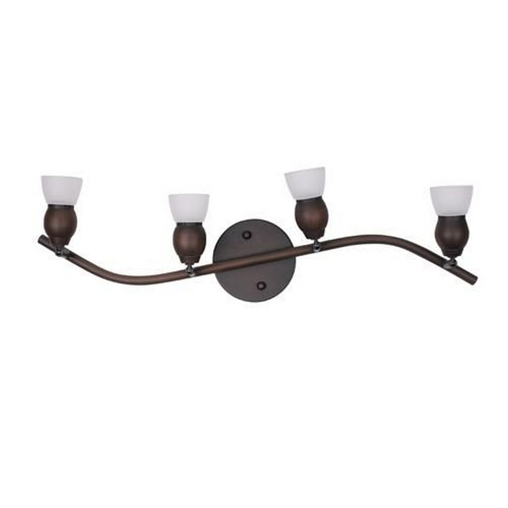 Whitfield Lighting - TP17-4ORB - Bently Twenty Nine-Inch Four-Light Track Light Oil Rubbed Bronze with White Glass