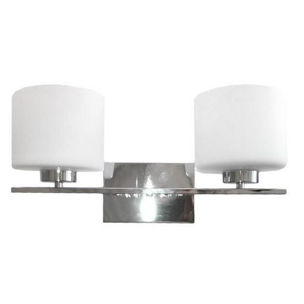 Whitfield Lighting-VL207-2CH-Jaelyn - Two Light Bath Bar  Chrome Finish with Dove White Glass