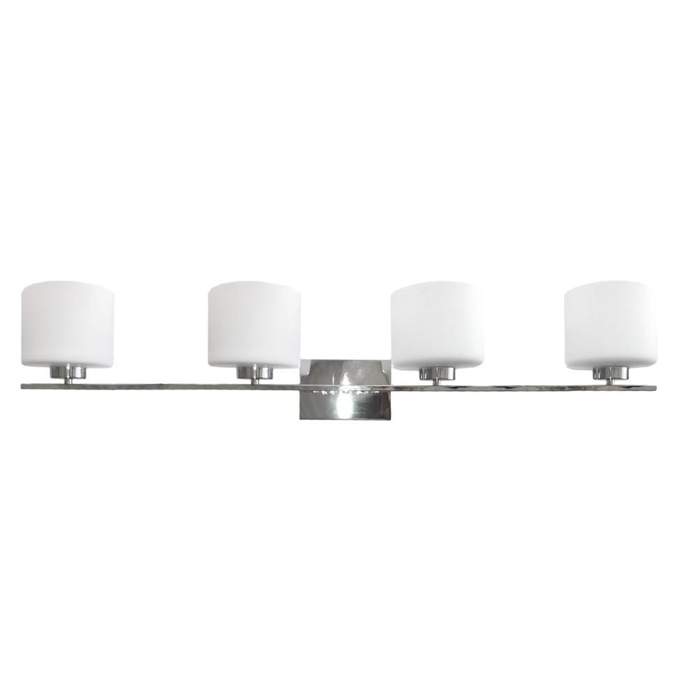 Whitfield Lighting-VL207-4CH-Jaelyn - Four Light Bath Bar  Chrome Finish with Dove White Glass