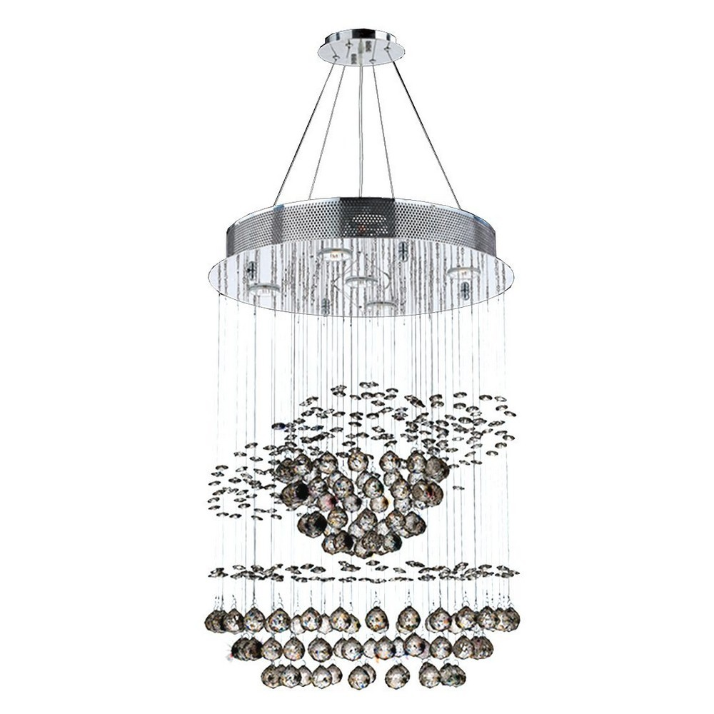 Worldwide Lighting-W83252C18-Helix - Five Light Medium Chandelier  Polished Chrome Finish with Clear Crystal