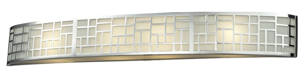 Z-Lite-328-4V-CH-Elea - 4 Light Bath Vanity  Chrome Finish with Matte Opal Glass
