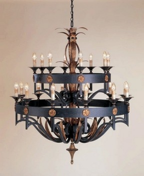 Currey and Company - 9837 - 20 Light Camelot Chandelier