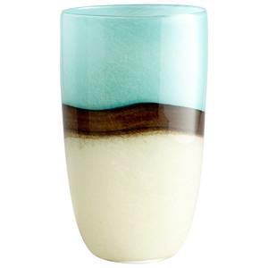 Cyan lighting-05874-Turquoise Earth - 6.75 Inch Large Decorative Vase  Blue Finish