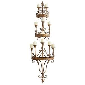 Cyan lighting-05961-Eastnor - 64 Inch Wall Decorative Candleholder  Rustic Bronze Finish