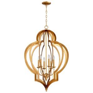 Cyan lighting-05974-Vertigo - Six Light Large Chandelier  Gold Leaf Finish