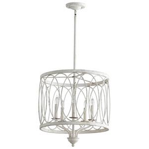 Cyan lighting-05976-Sausalito - Five Light Pendant  Persian White Finish