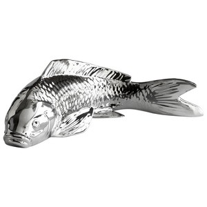 Cyan lighting-05989-Swimmingly Sweet - 13.25 Inch Large Decorative Sculpture  Chrome Finish
