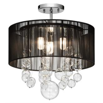 Elan Lighting 83226 Imbuia - Three Light Semi-Flush Mount
