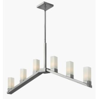 Fredrick Ramond Lighting FR47206PNI Omni - Six Light Linear Chandelier