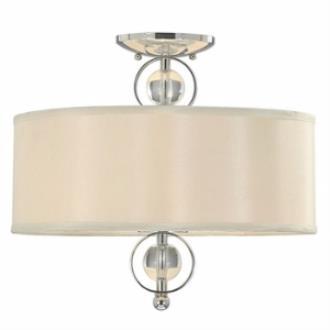 Golden Lighting 1030-SF CH Cerchi - Two Light Convertible Semi-Flush Mount