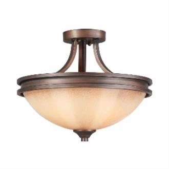 Golden Lighting 1051-SF SBZ Hidalgo - Two Light Semi-Flush Mount