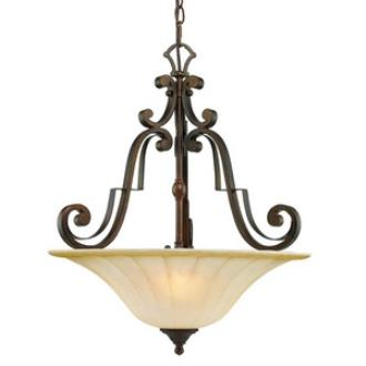 Golden Lighting 1089-3P RSB Pemberly Court - Three Light Bowl Pendant