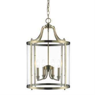 Golden Lighting 1157-4P AB Payton - Four Light Pendant