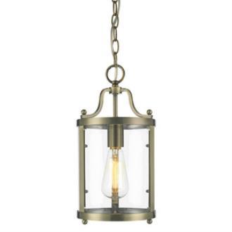 Golden Lighting 1157-M1L AB Payton - One Light Mini Pendant