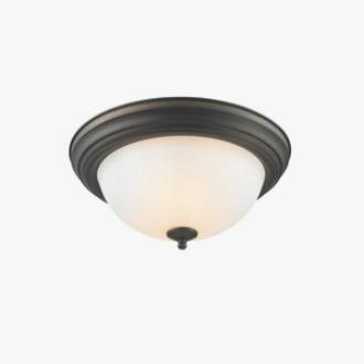 Golden Lighting 1260-13 RBZ-OP Two Light Flush Mount