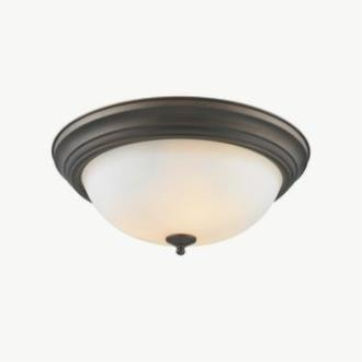 Golden Lighting 1260-15 RBZ-OP Three Light Flush Mount