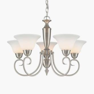 Golden Lighting 1395 PW-OP Centennial - Five Light Chandelier