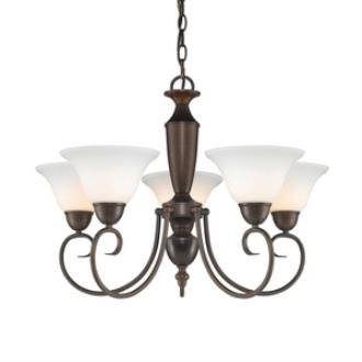 Golden Lighting 1395 RBZ-OP Centennial - Five Light Chandelier