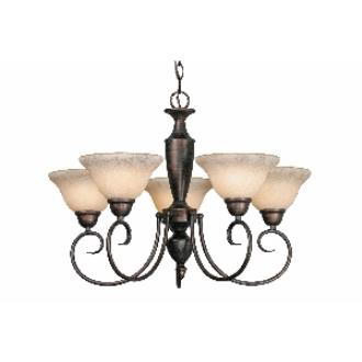 Golden Lighting 1395 RBZ 5 Light Chandelier