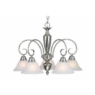 Golden Lighting 1395DL PW 5 Light Nook Chandelier