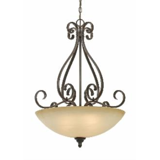 Golden Lighting 1567-BP3 PC Riverton - 3 Light Pendant Bowl