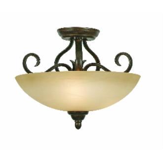 Golden Lighting 1567-SF PC Riverton - Three Light Semi-Flush