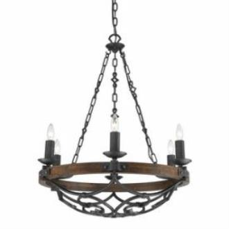 Golden Lighting 1821-6 BI Madera - Six Light Chandelier