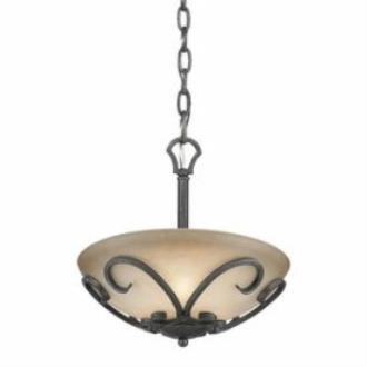 Golden Lighting 1821-SF BI Madera - Three Light Convertible Semi-Flush Mount