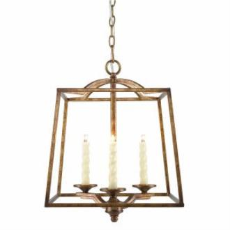 Golden Lighting 3071-3P GG Athena - Three Light Pendant