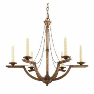 Golden Lighting 3071-6 GG Athena - Six Light Chandelier