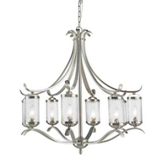Golden Lighting 3082-8 PW Wynn - Eight Light Chandelier