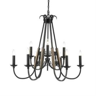 Golden Lighting 3281-9 BI Moreno - Nine Light Chandelier