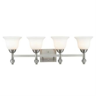 Golden Lighting 3500-BA4 PW Waverly - Four Light Bath Vanity