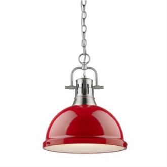 Golden Lighting 3602-L PW-RD Duncan - One Light Pendant