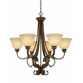 Golden Lighting 3711-6 CB 6 Light Chandelier
