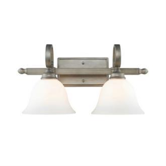Golden Lighting 3711-BA2 PS Rockefeller - Two Light Bath Vanity