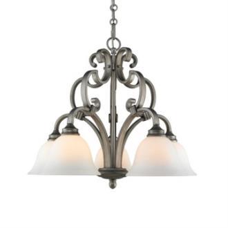 Golden Lighting 3711-D5 PS Rockefeller - Five Light Nook Chandelier