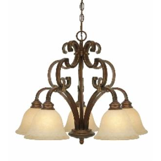 Golden Lighting 3711-D5 CB 5 Light Nook Chandelier
