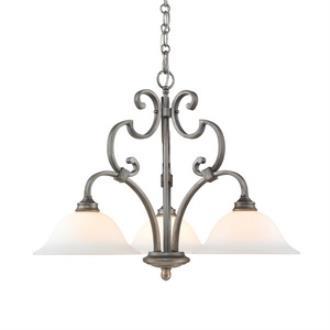 Golden Lighting 3711-ND3 PS Rockefeller - Three Light Nook
