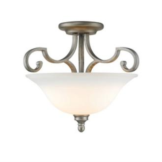 Golden Lighting 3711-SF PS Rockefeller - Three Light Convertible Semi-Flush Mount