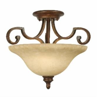Golden Lighting 3711-SF CB Convertible Semi-Flush