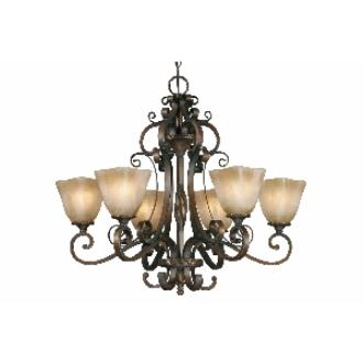 Golden Lighting 3890-6 GB 6 Light Chandelier