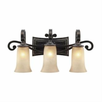 Golden Lighting 3966-BA3 FB Portland 3 Light Vanity