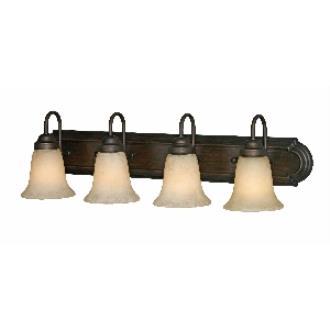 Golden Lighting 5334 RBZ 4 Light Vanity