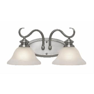 Golden Lighting 6005-BA2 PW 2 Light Vanity