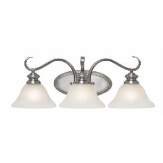 Golden Lighting 6005-BA3 PW 3 Light Vanity