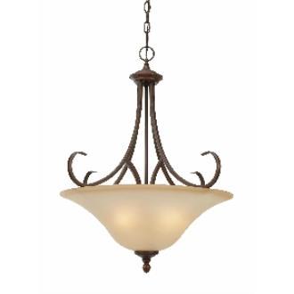 Golden Lighting 6005-BP3 RBZ Pendant Bowl