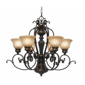 Golden Lighting 6029-6 EB 6 Light Chandelier