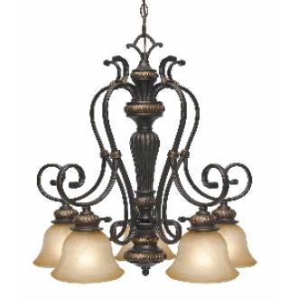 Golden Lighting 6029-D5 EB 5 Light Nook Chandelier