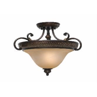 Golden Lighting 6029-SF EB Convertible Semi-Flush
